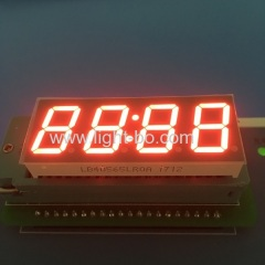 "Super red 0.56"" 4 digit 7 segment led clock display common cathode for industrial control"