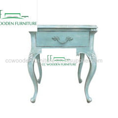 classical French solid wood bedside table nightstand elm storage lockers