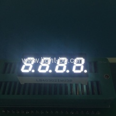 "Ultra white 4 digit 0.3"" 7 segment led display common anode for instrument panel"