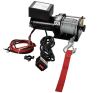 ELECTRIC winch 3000LBS WITH MOUNTING PLATE AND ROLLER FAIRLEAD