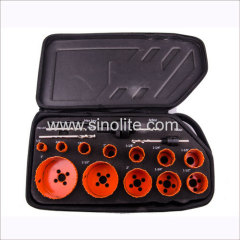 "16pcs HSS Bi-metal hole saw set 5/8"" 3/4"" 7/8"" 1"" 1-1/8"" 1-1/4"" 1-3/8"" 1-1/2"" 1-3/4"" 2"" 2-1/2"" 3"""