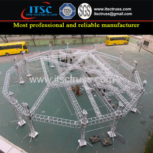 Aluminum Polygon Cone Roof Truss Rigging System for Event Tents Structure