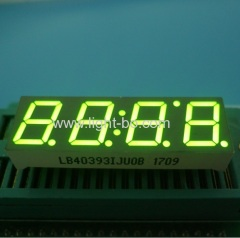 Super bright green common anode 0.39 inch 4 digit 7 segment led display for home appliance