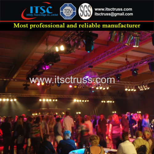 Indoor Stage Lighting Truss Rigging Project for Multipurpose Truss Solution