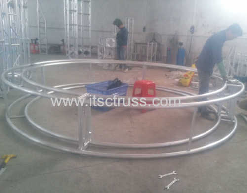 Multipurpose Truss Rigging for LED Screen Polygon- Shaped Support