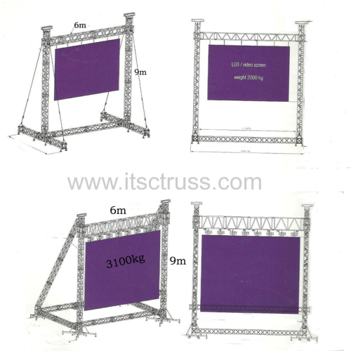 Multipurpose & Advertising Truss Rigging for Night Club Pyramid Roof