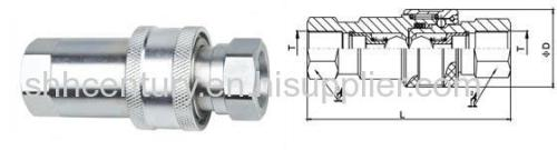ISO5675 Carbon Steel Ball Valve Type Hydraulic Quick Release Coupler BSP G1/2