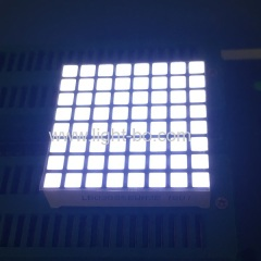 Ultra white 3mm 8*8 dot matrix led display row anode for moving signs