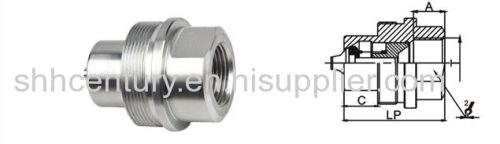 KZE-BA Thread Lock Type Hydraulic Quick Coupling GROMELLE 6000 Interchangeable