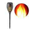 96LED Solar Torch Lights Waterproof Flickering Flames Torch Lights Wireless Outdoor Landscape Decoration Lighting Dusk
