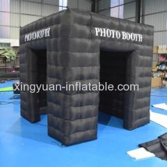 Mobile Photo booth Inflatable cube with 2 doors