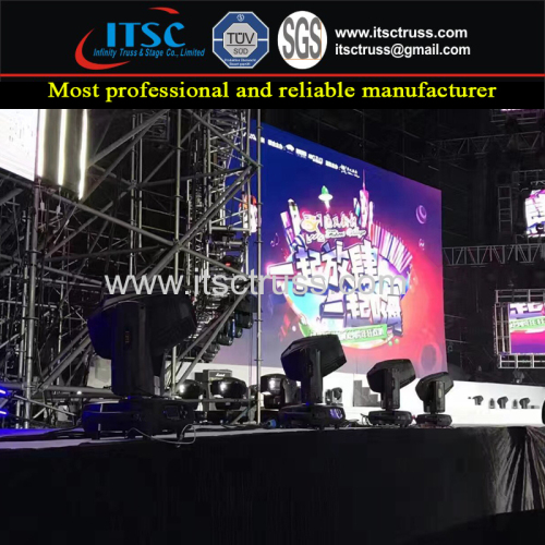 Ringlock Scaffolding for 4X6M LED Screen Display Support with Mobile Stages Assembling