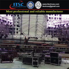 Ringlock Scaffolding Assembling for Sound Speaker System in Outdoor Events