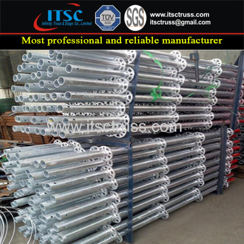 Hardware Steel Ring Lock Scaffolding Vertical Pipes