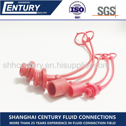 Hydraulic Quick Coupling Rubber Plastic Red Dust Cap
