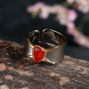 Simple design fashion silver gemstone jewelry Ring
