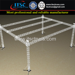 16x12x8m Plat Roofing Trussing System with 4 Towers