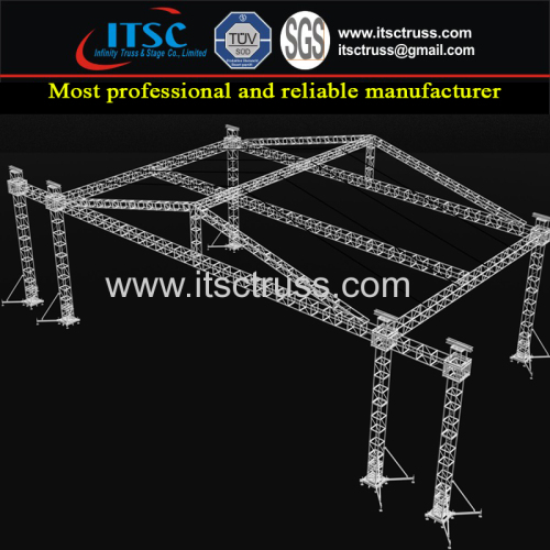 12X8X6m Pyramid Roofing Trussing System with 6 Towers