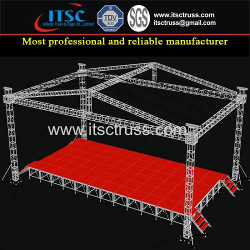 15x8x7m Lighting Trussing Staging Pyramid Roofing System