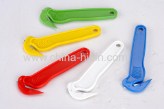 Concealed blade safety cutter knives with tape splitter