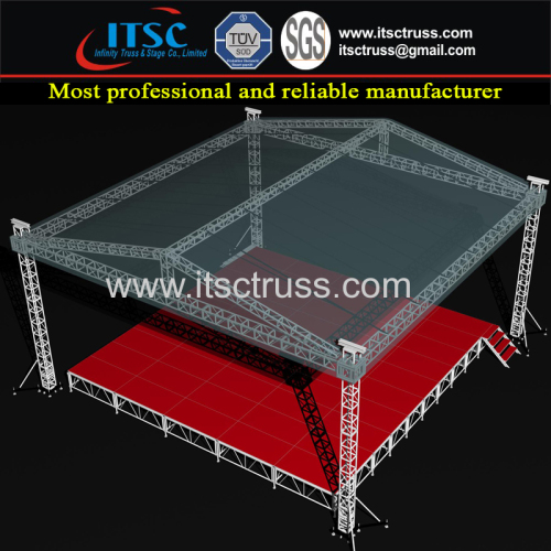 Aluminum Stage Trussing Economic Pyramid Roofing System