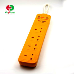 125V/15A Universal 4 Outlet Grounded Socket Power Strip 2 USB