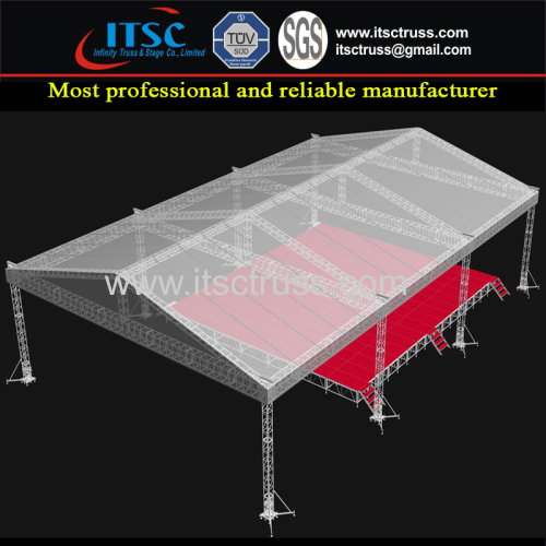 Aluminum Stage Lighting Trussing System Pyramid Roofing Trussing 30x10x6m