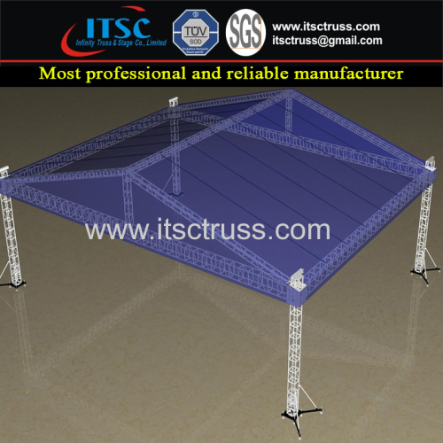 18X12X9 4 Pillars Pyramid Roofing System