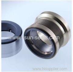 Stationary metal bellows SEALS