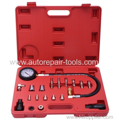 Compression Cylinder Pressure Tester Gauge Kit For Diesel Truck