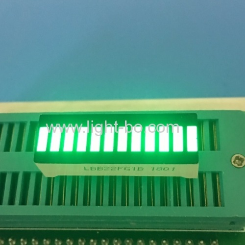 High brightness Pure Green 12 segment led bar array for instrument panel