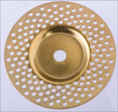 Diamond Electroplated Depressed Center Grinding Wheel 144holes