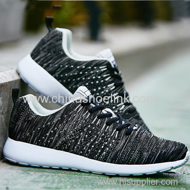 Charcoal Sport Casual Shoes with Fly Knitting Upper and Moulded Sole