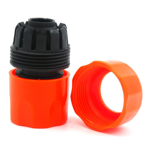 Plastic 3/4  water hose pipe quick connector