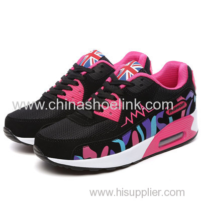 Classic sport running shoes pu sole with airbag