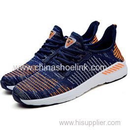 Zebra Shoes Navy Fly Knitting Sport Running Shoes Manufactor