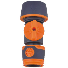 Plastic 19mm water hose quick connector with valve