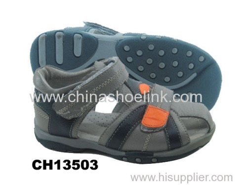 Child leather sport sandals supplier