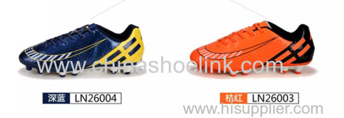 Orange soccer shoes manufactor