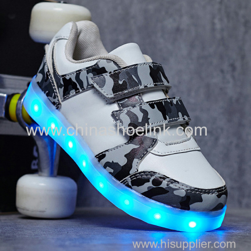 Best skateboard shoes with LED lights sport casual shoes supplier