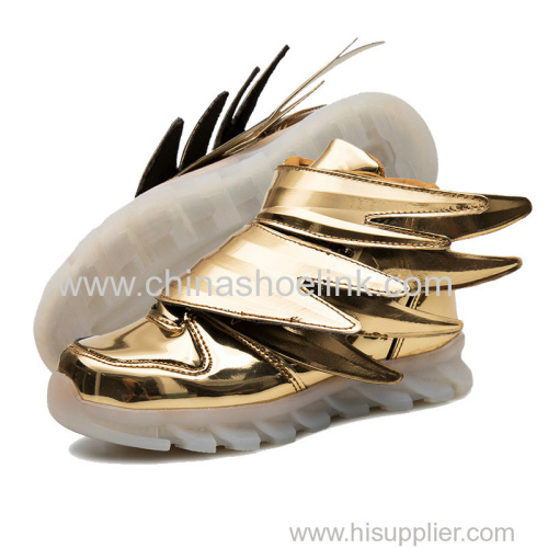Wings Shoes Best skateboard shoes with LED lights sport casual shoes exporter