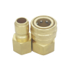 Copper ST American Dixon DQC-E Straight Through Hydraulic Quick Disconnect Coupler Set NPT 1/2