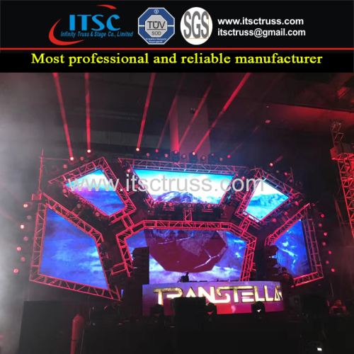 12x6m Custom LED Screen Aluminum Trussing Marketing in Malaysia