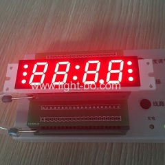 Ultra red customized 4 digit 7segment led clock display for bluetooth speaker