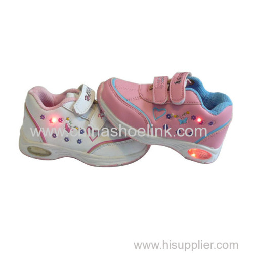 China sport casual shoes supplier kids sneakers with LED lights