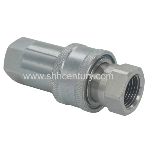 1/2 Zinc Plate ISO5675 Hydraulic Quick Connect Coupler PIN Valve