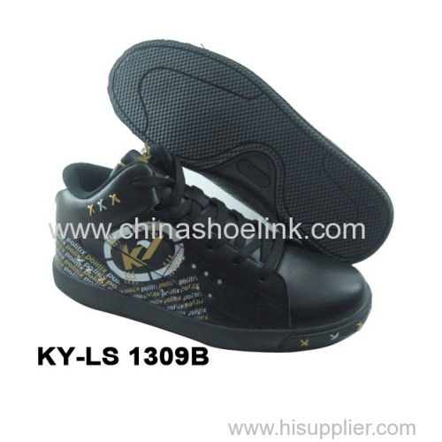 Mid-cut skateboard shoe sport tennis shoes indoor court shoes manufactor