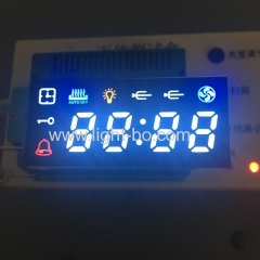 Multicolour ultra bright 4 digit 7 segment led display for oven timer