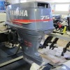 Slightly Used Yamaha 75 HP Outboard Motor Boat Engine