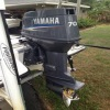 Slightly Used Yamaha 70 HP Outboard Motor Boat Engine